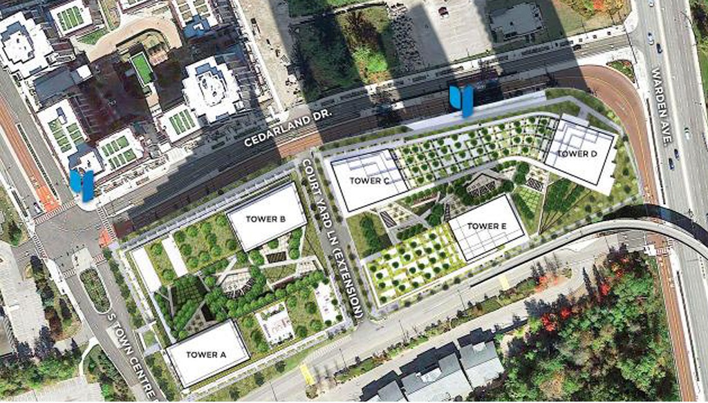 Looking-at-the-Site-Plan-of-Markham-Condos