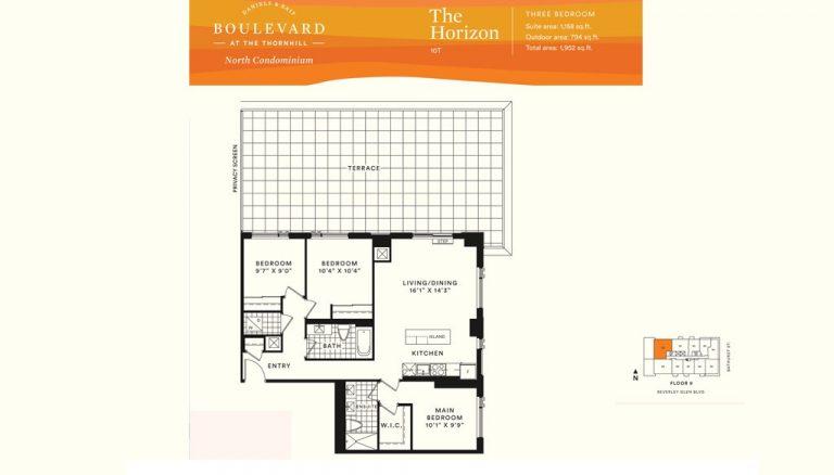 Boulevard-Condos-Thornhill-Three-Bedroom-Sample-Floorplan