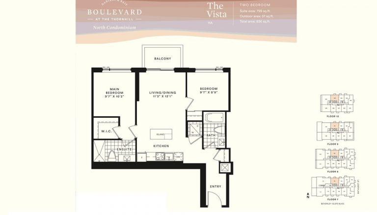 Boulevard-Condos-Thornhill-Vista-Two-Bedroom-Sample-Floorplan