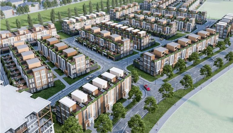 Aerial-View-of-Condos-and-Towns-at-9999-Markham-Road