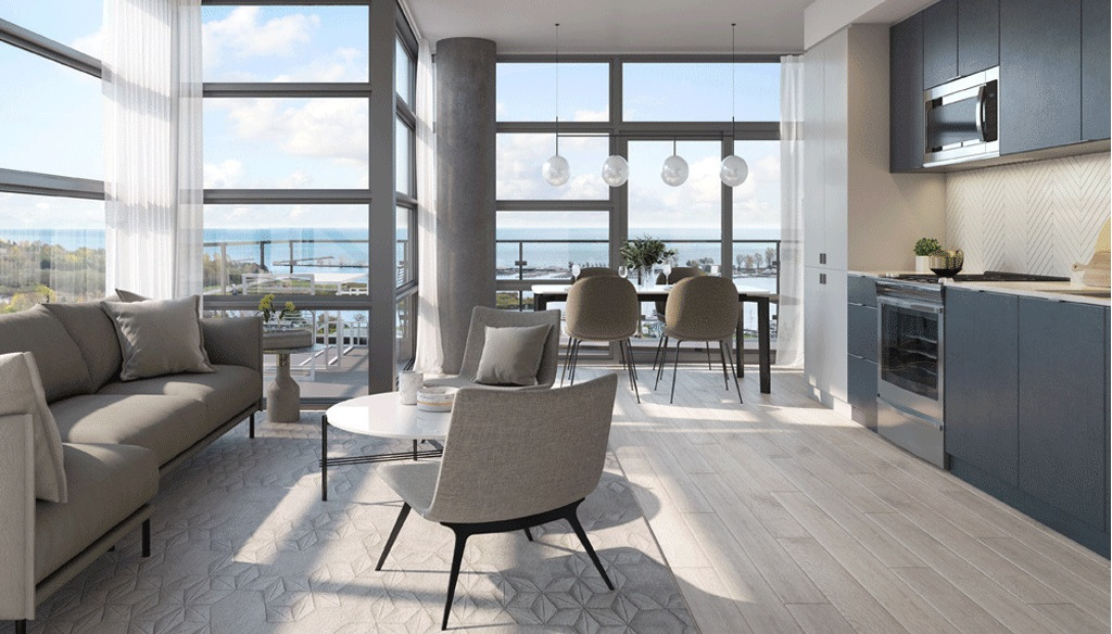 Landing-Condos-Whitby-Harbour-View-of-Open-Concept-Suite-Living-Space