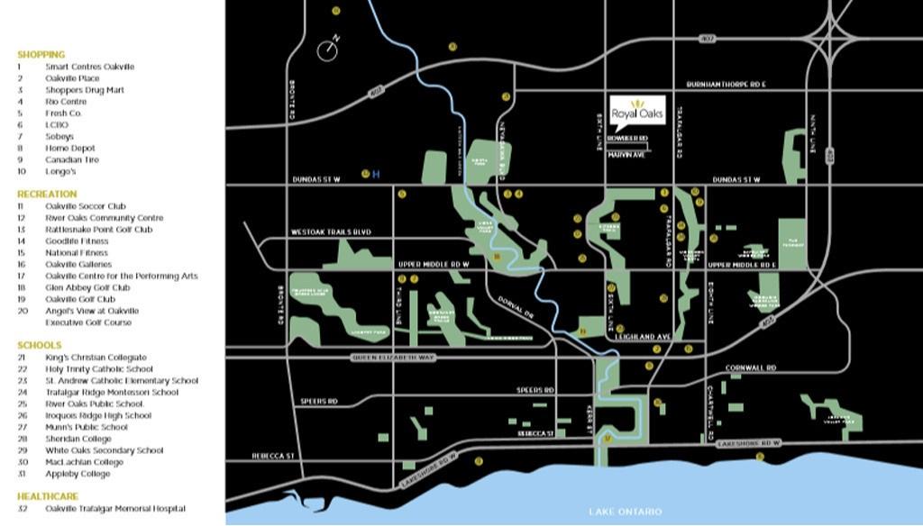 Royal-Oaks-Neighbourhood-Amenities-Map