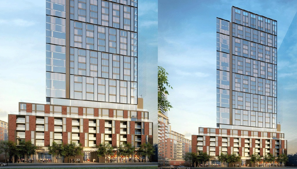 The-Goode-Condos-Split-Screen-View-of-Podium-and-Tower-From-the-Street-02