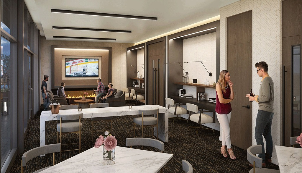 Westgate-on-Main-Condos-Party-Room-with-Media-Space